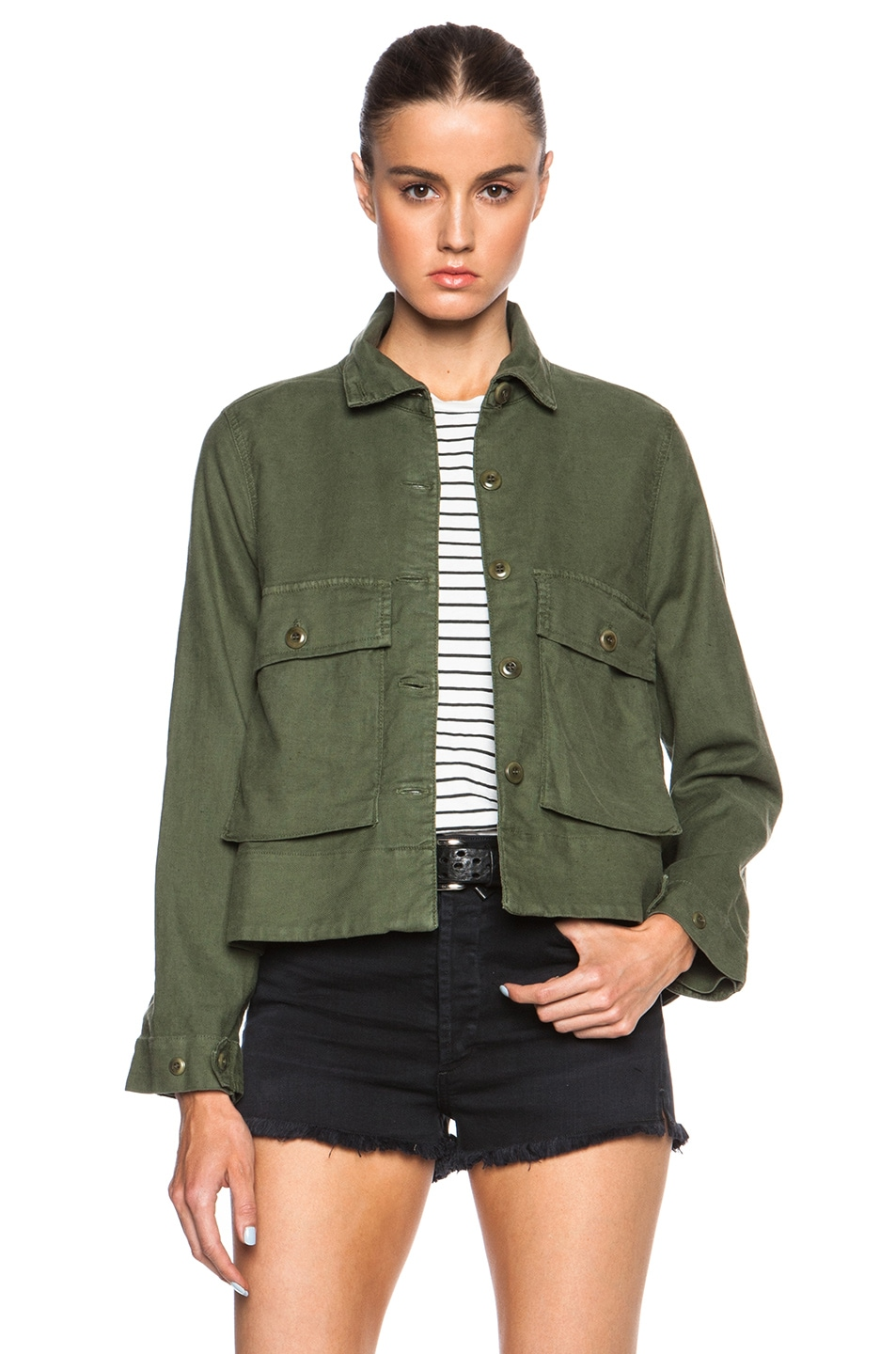 Image 1 of The Great Swingy Army Jacket in Beat Up Army