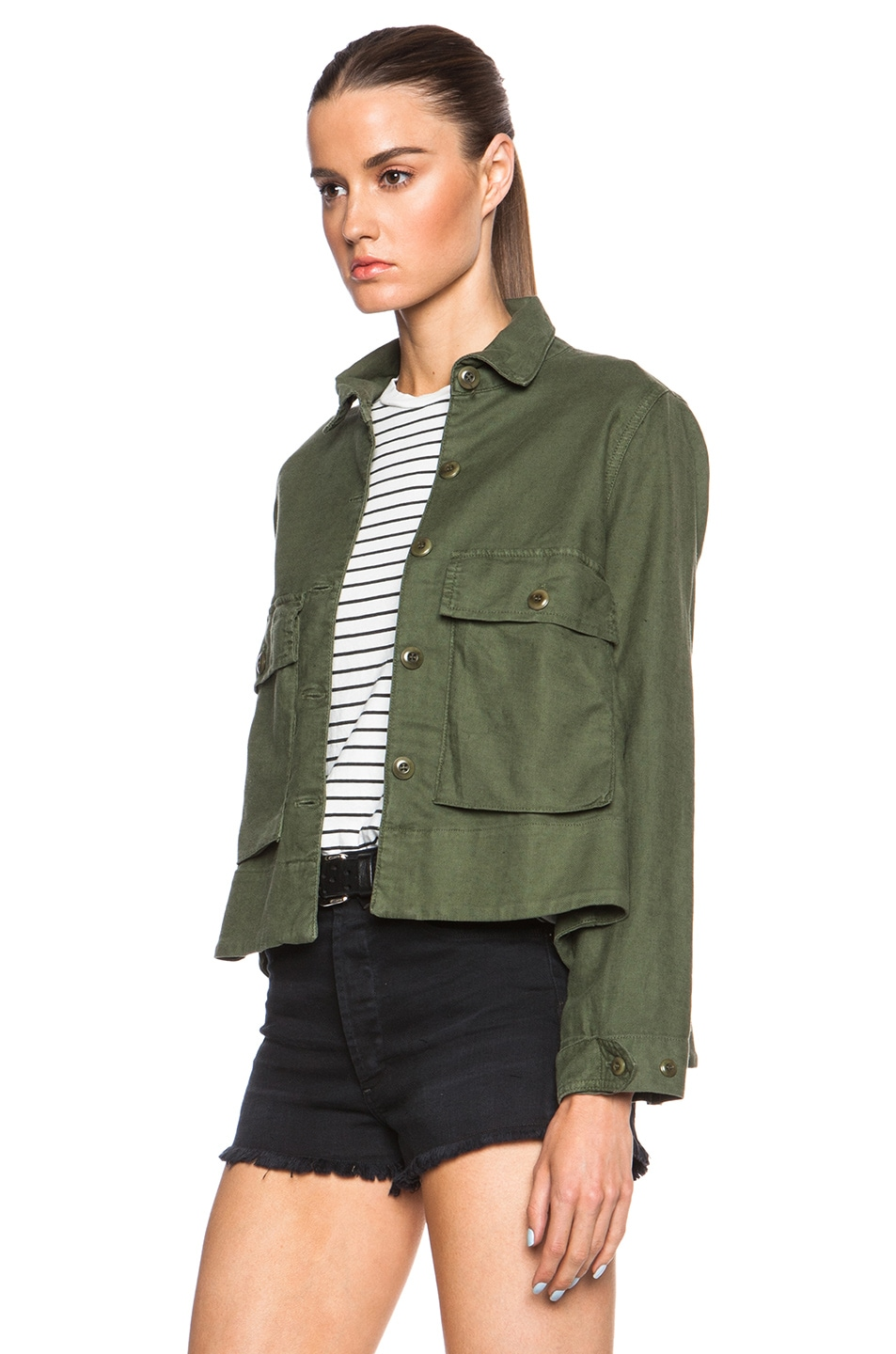The Great Swingy Army Jacket Beat Up Army 50%OFF