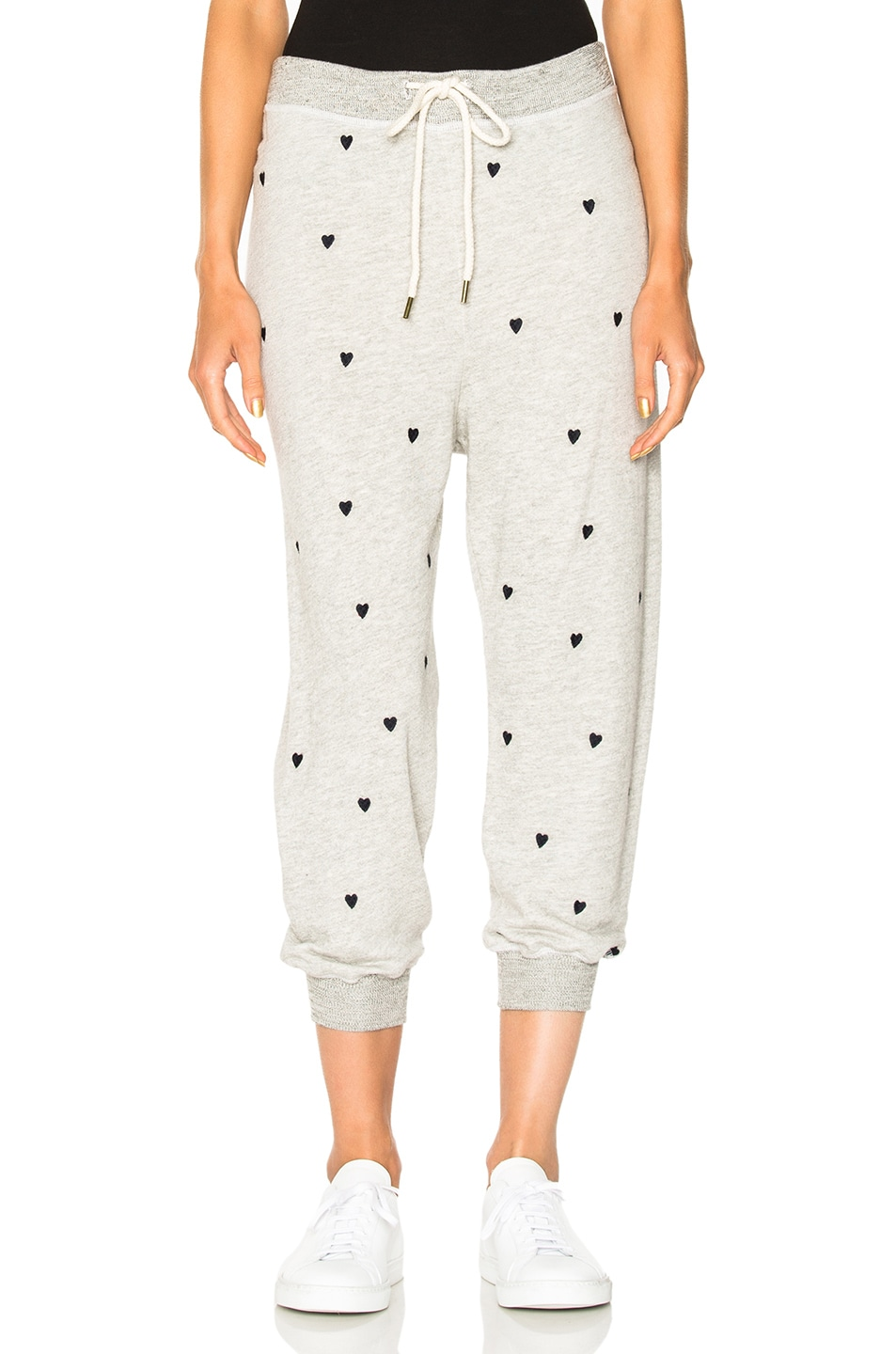 Image 1 of The Great Cropped Sweatpants in Heather Grey & Navy