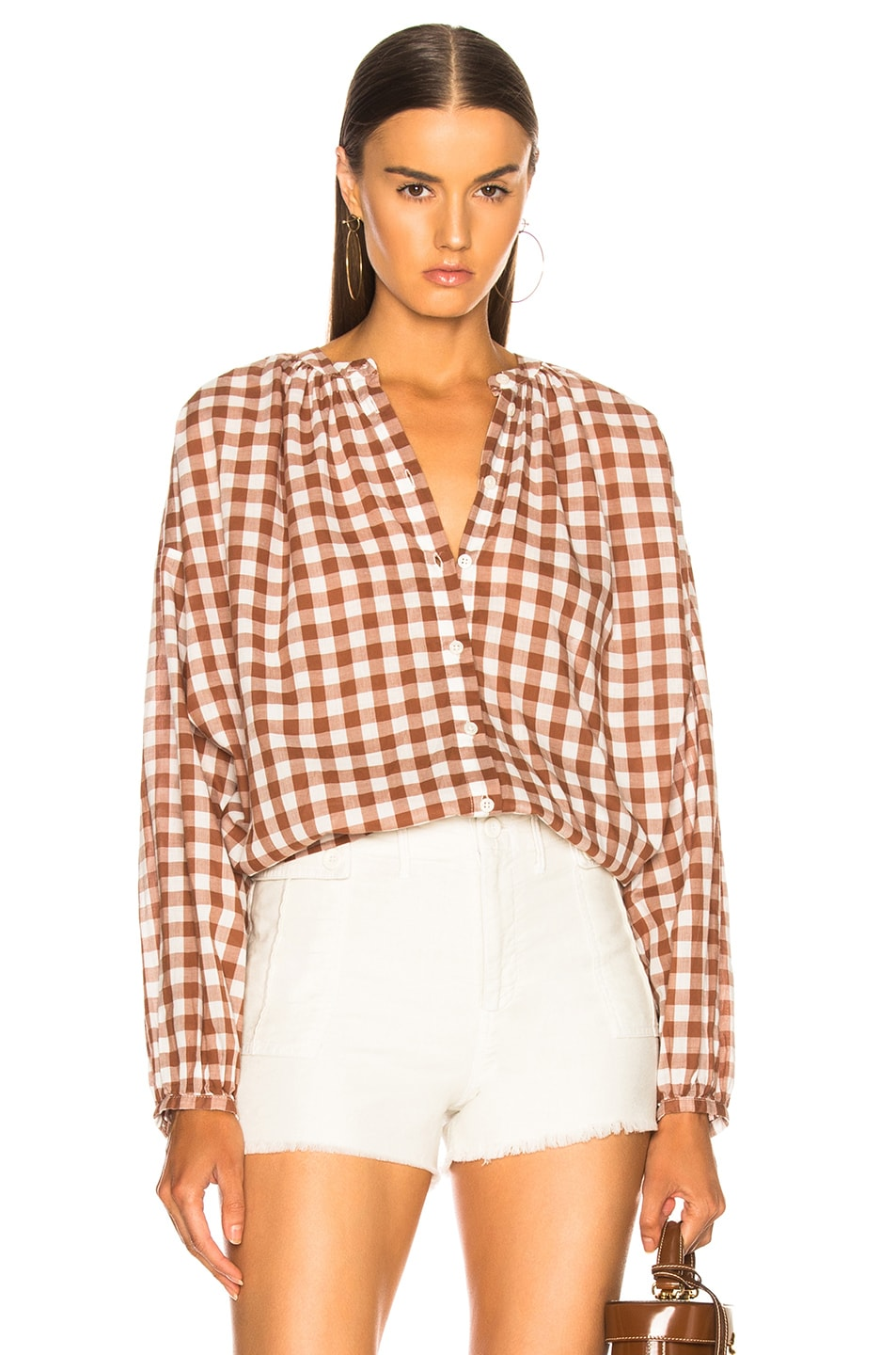 Image 1 of The Great Handsome Button Up in Carob Check