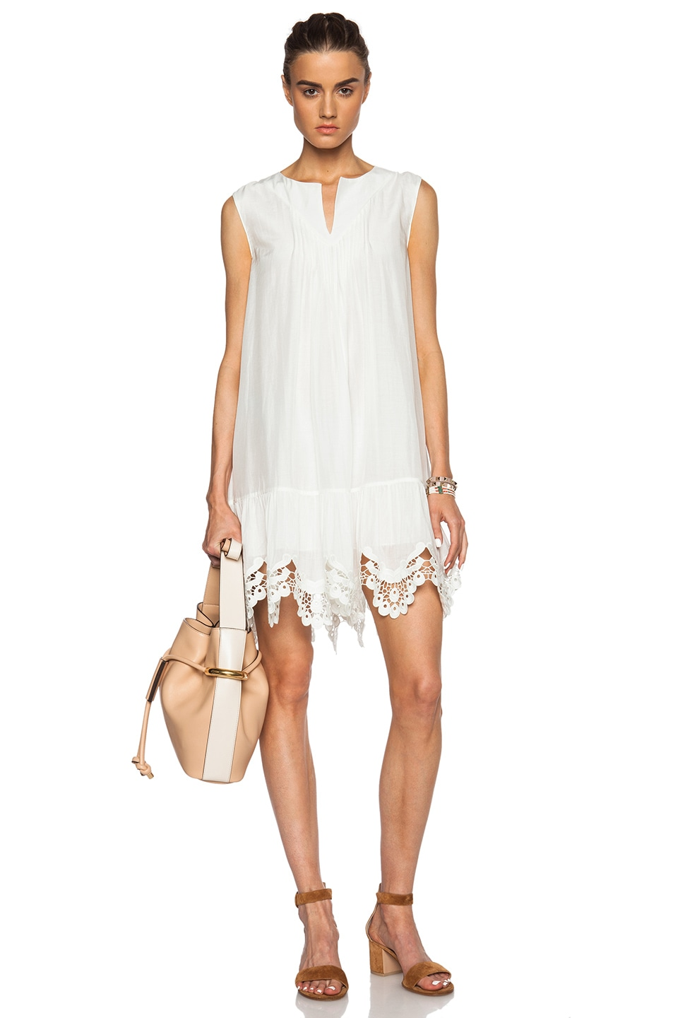 Image 1 Of Thakoon Addition Crochet Dress In Ivory