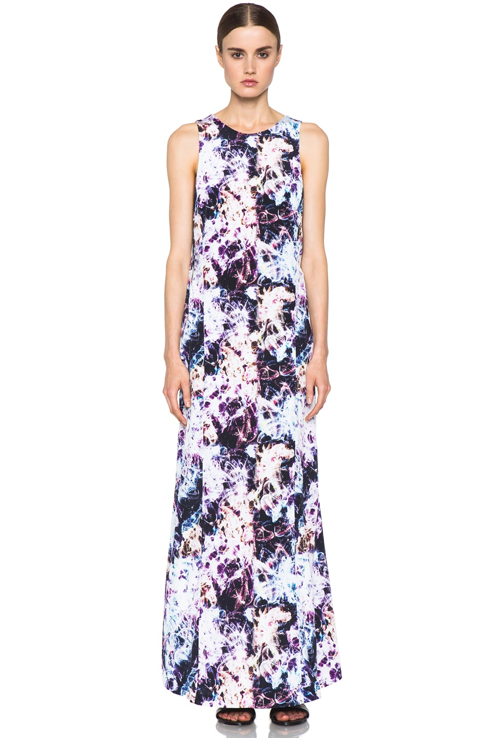 Image 1 of Theyskens' Theory Dlilac Ilight Maxi Dress in Bright Multi