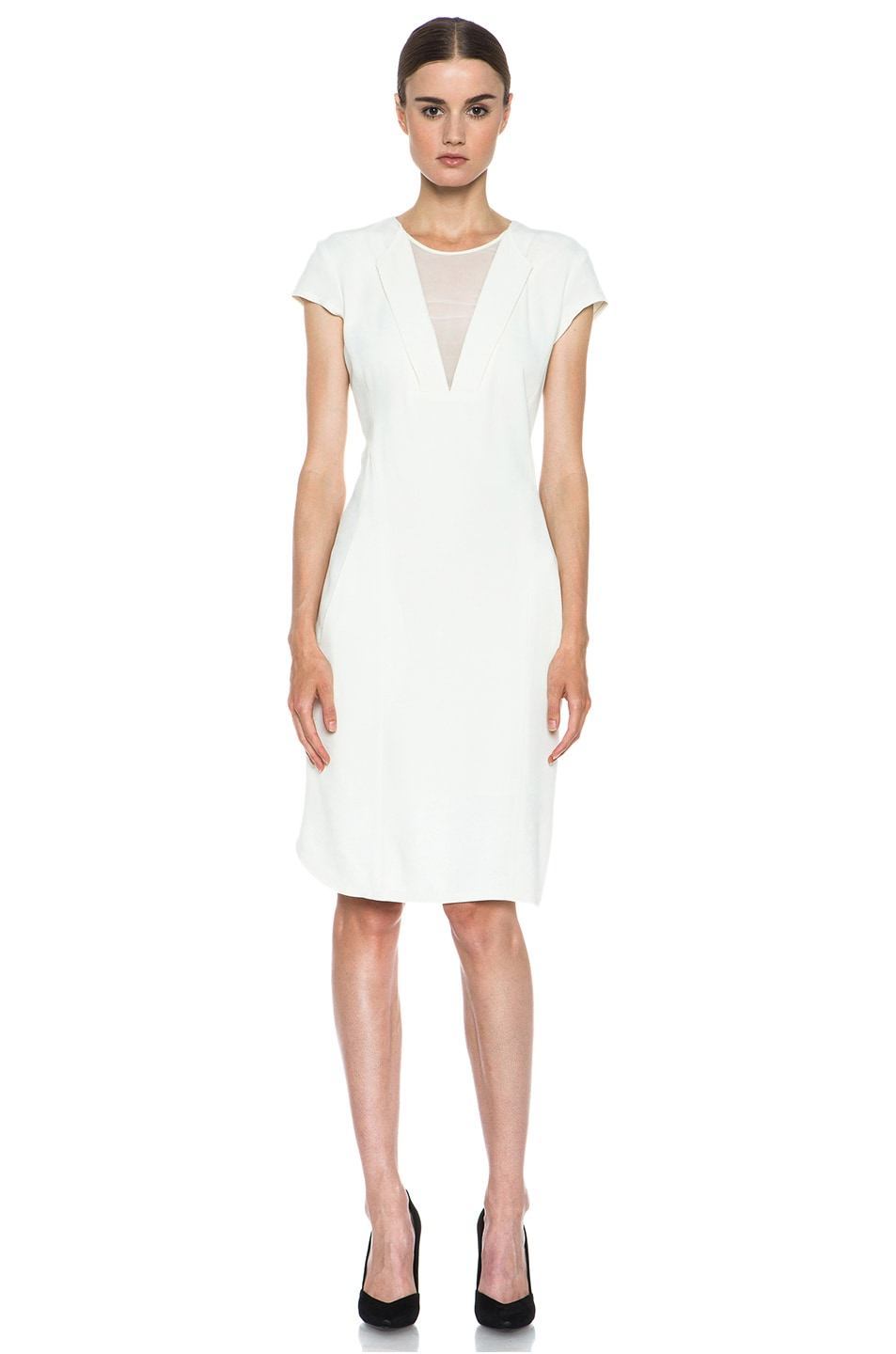 Image 1 of Theyskens' Theory Dathlyn Viscose-Blend Dress in Off White