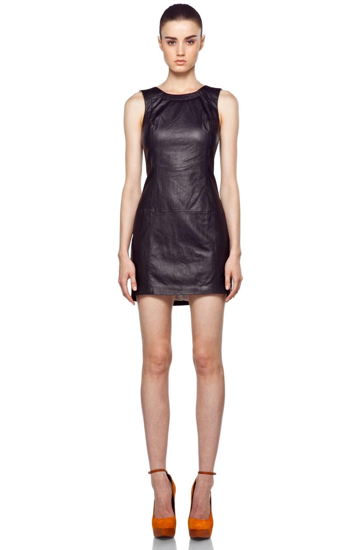 29ec7193e0 Image 1 of Theyskens' Theory Noel Dhidas Leather Dress in Black