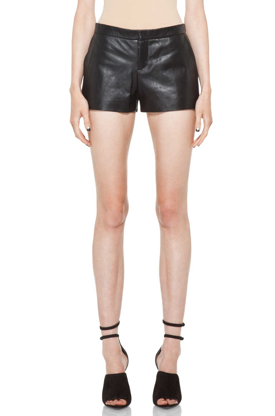 Image 1 of Theyskens' Theory Nota Paxet Shorts in Black