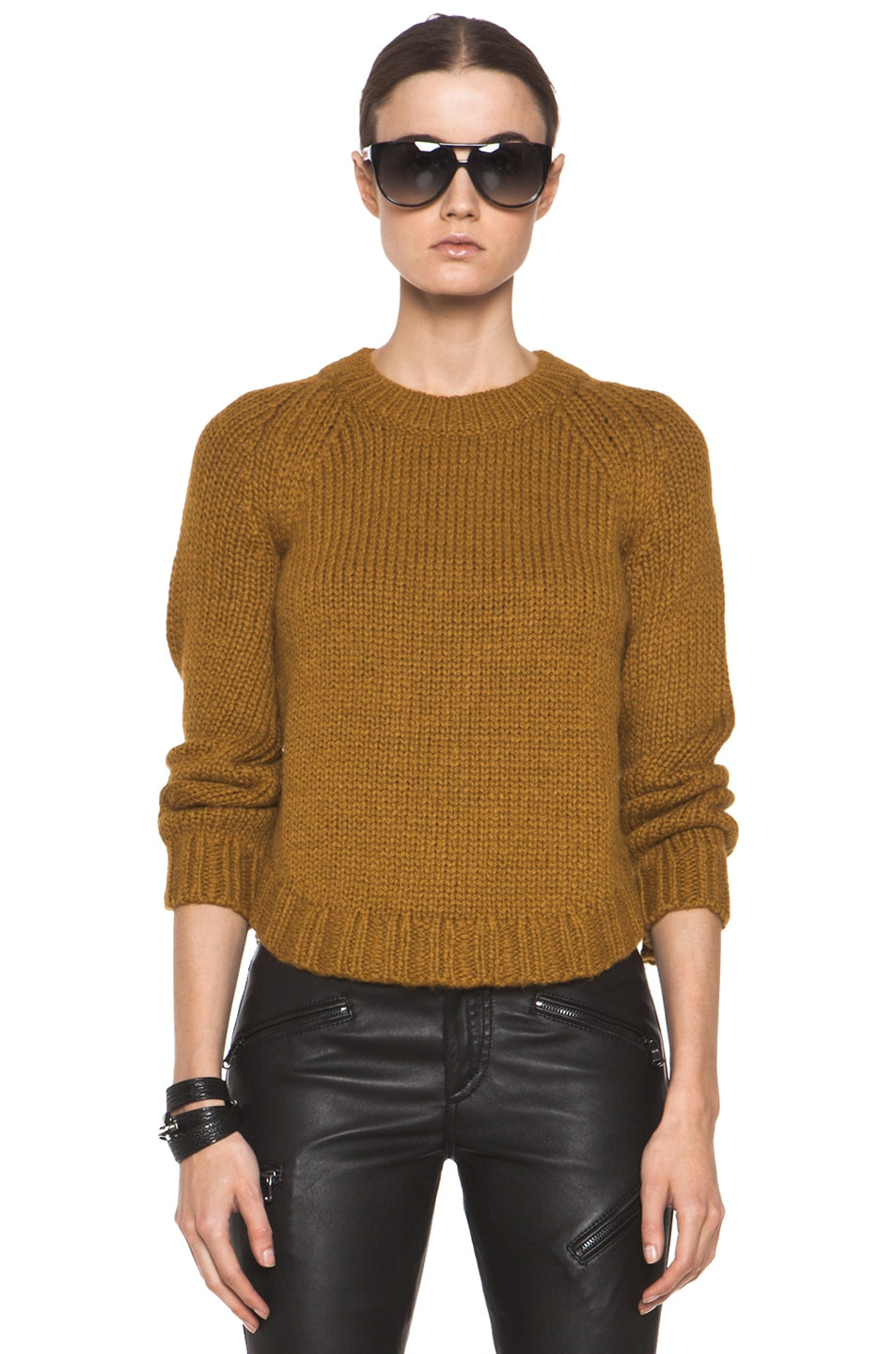 Image 1 of Theyskens' Theory Knop Yourney Sweater in Mustard