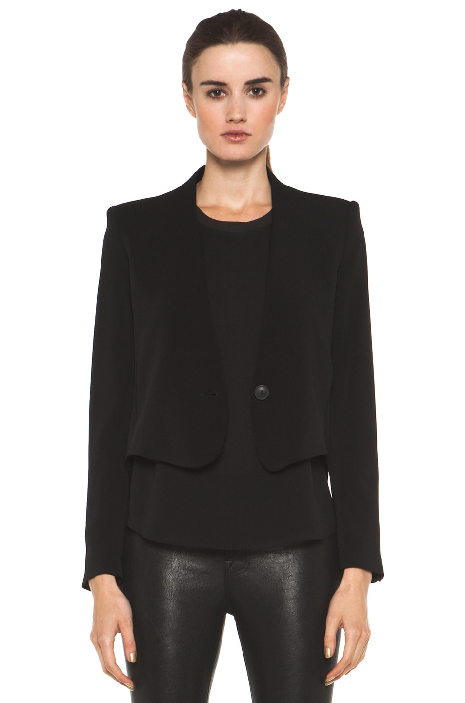 Image 1 of Theyskens' Theory Fomment Jirdo Jacket in Black