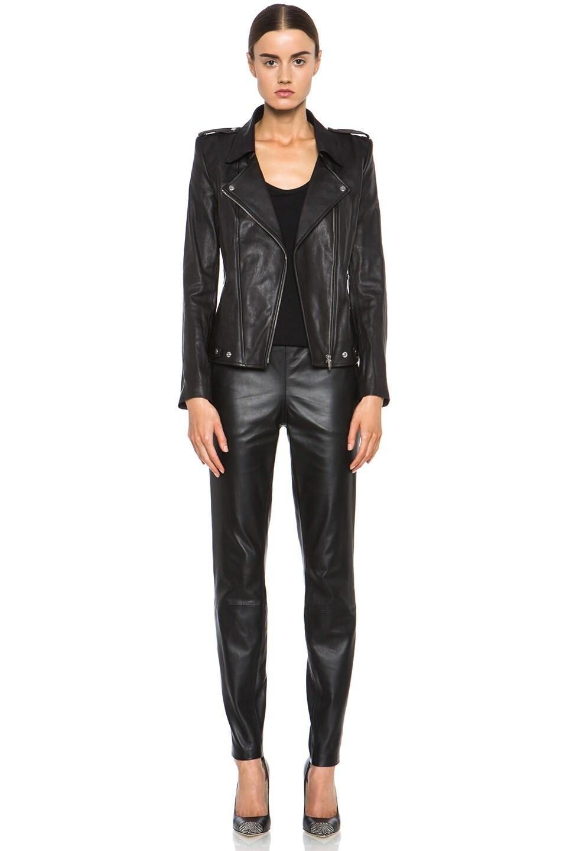 Theyskens Theory Nomi Jiker Leather Jacket In Black Fwrd
