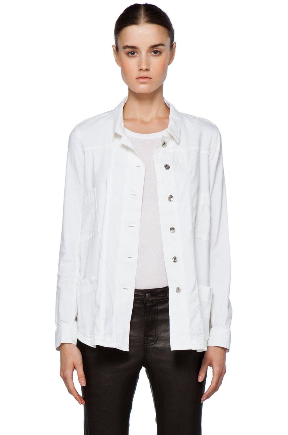 Image 1 of Theyskens' Theory Fecconi Jullan Jacket in Optic White