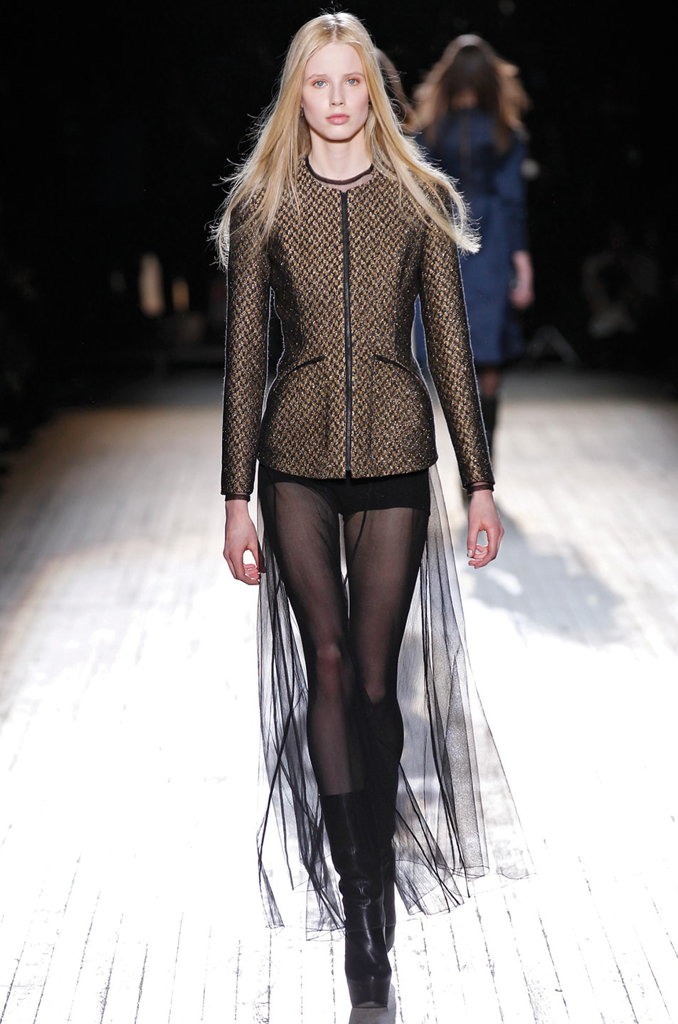 Image 7 of Theyskens' Theory Jelsor Faize Jacket in Gold Multi