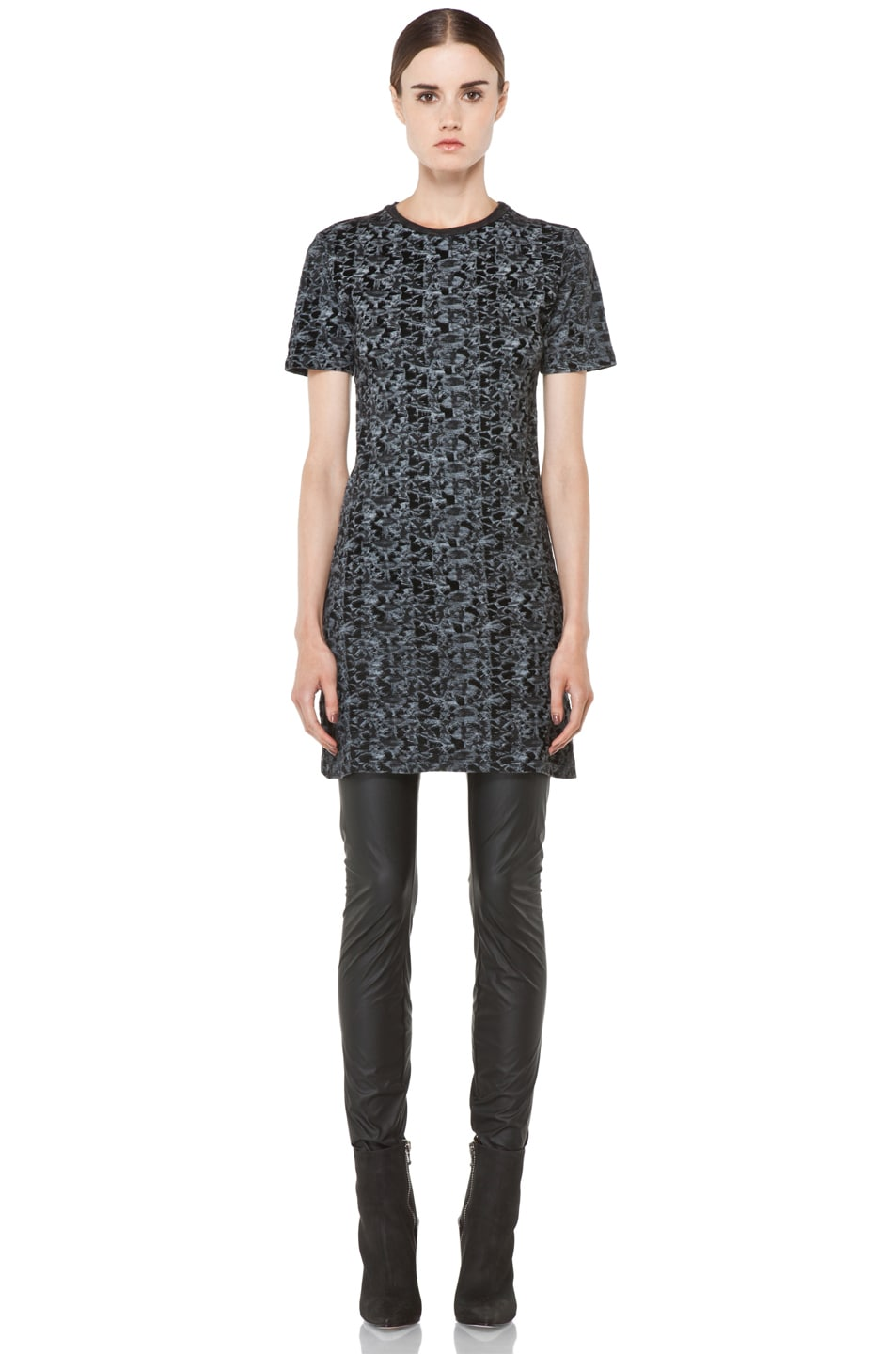 Image 1 of Theyskens' Theory Iknife Cherry Jersey Dress in Multi