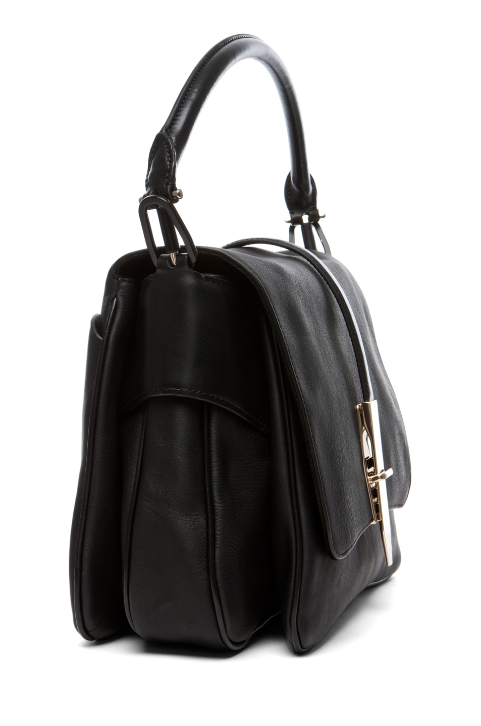 Image 3 of Theyskens' Theory Willa Azia Leather Bag in Black