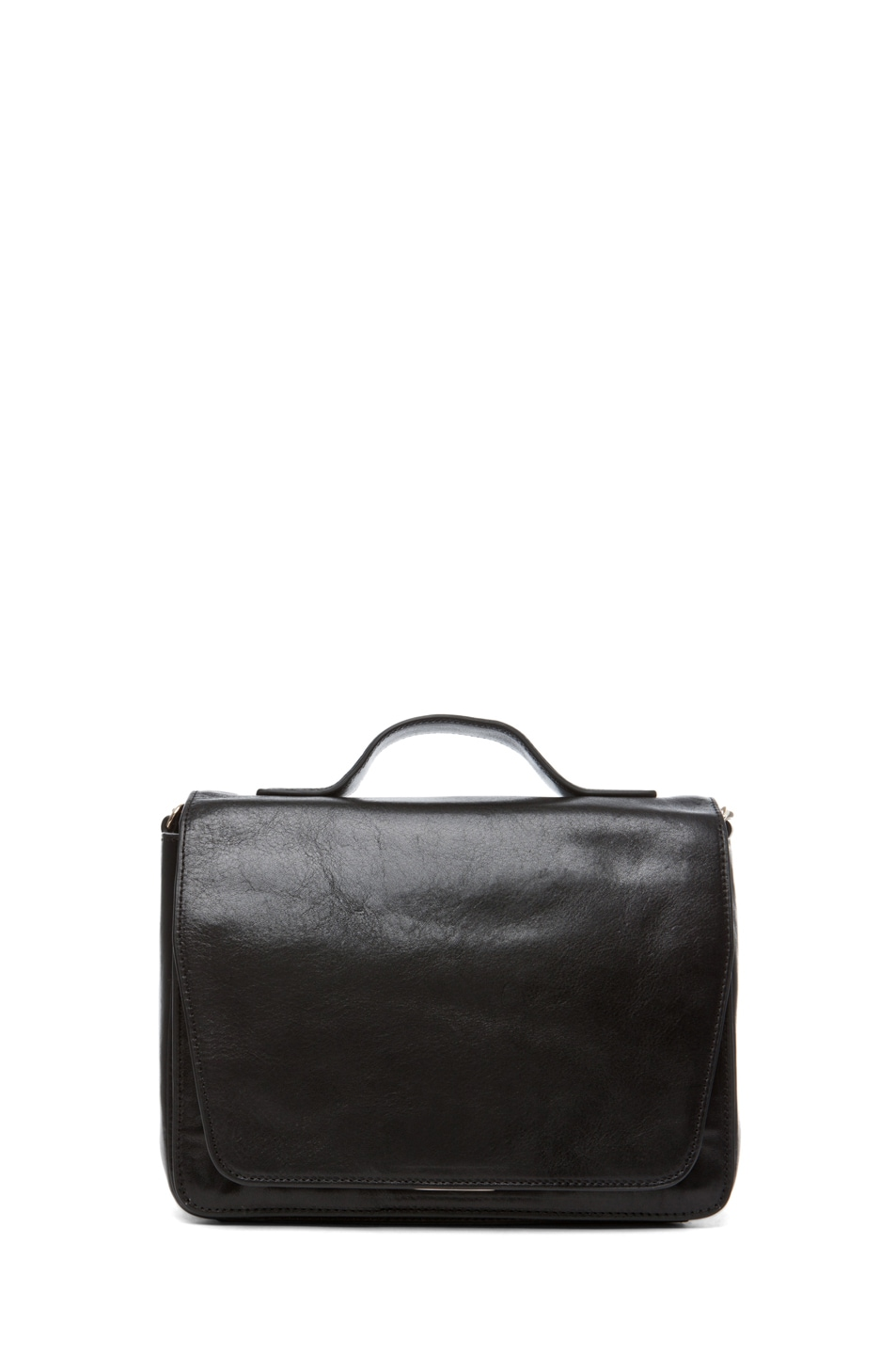 Image 1 of Theyskens' Theory Waren Ang Leather Bag with Chain in Black