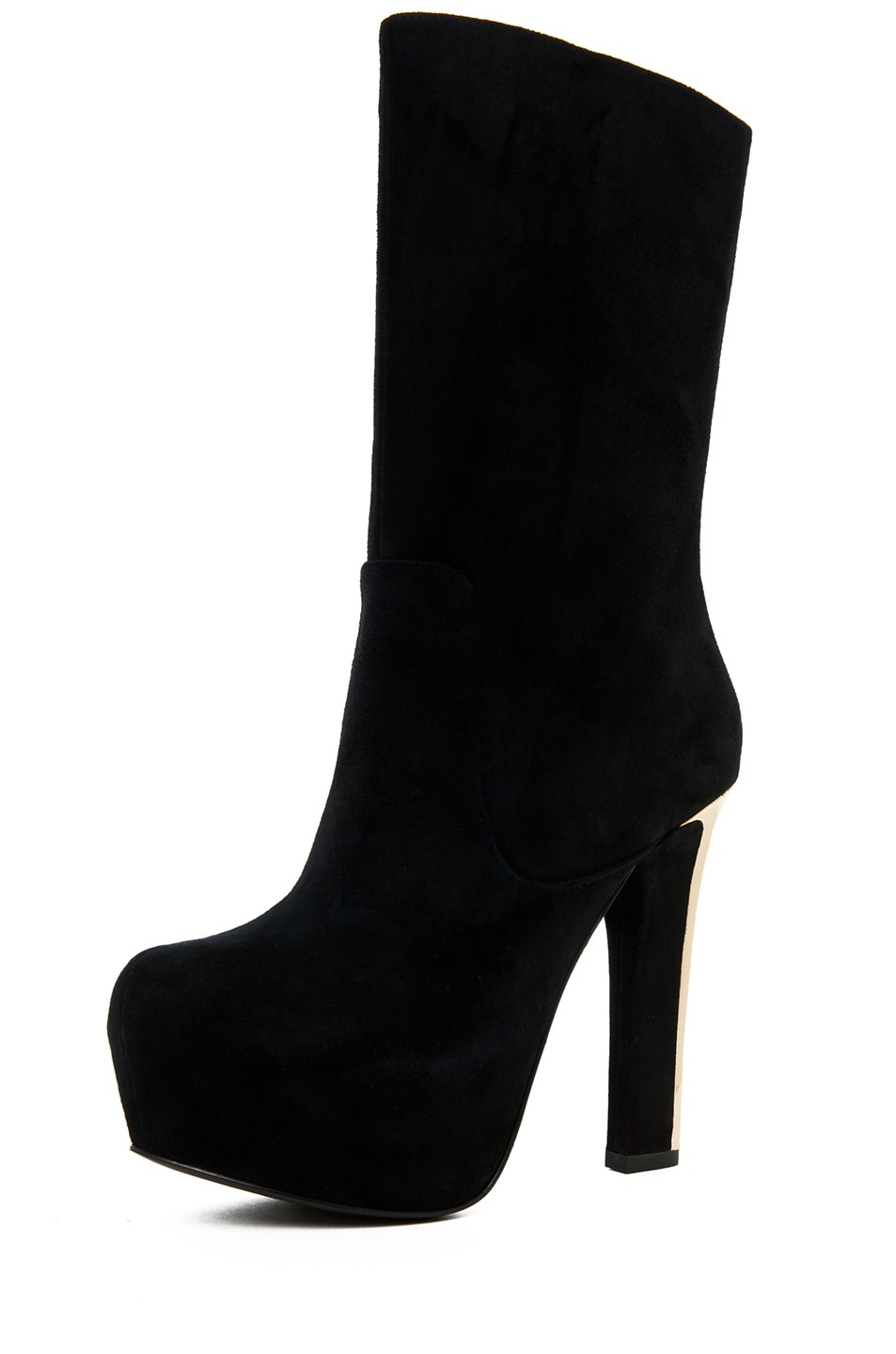 Image 2 of Theyskens' Theory Emilie Aved Suede Crop Boot in Black