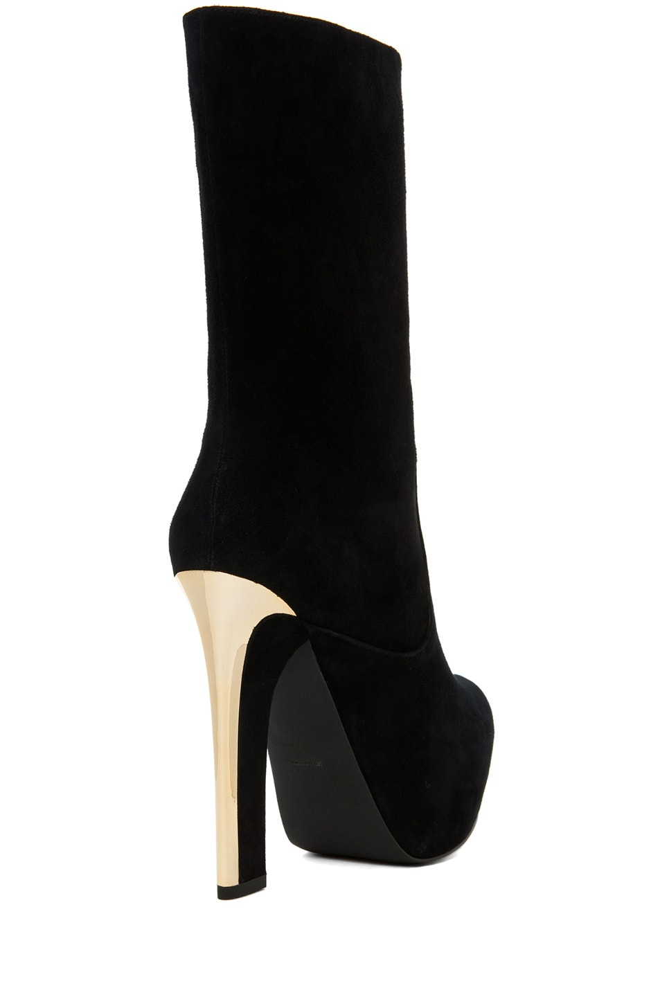 Image 3 of Theyskens' Theory Emilie Aved Suede Crop Boot in Black