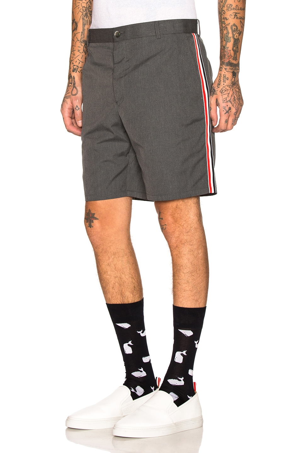 Image 1 of Thom Browne Unconstructed Shorts in Medium Grey