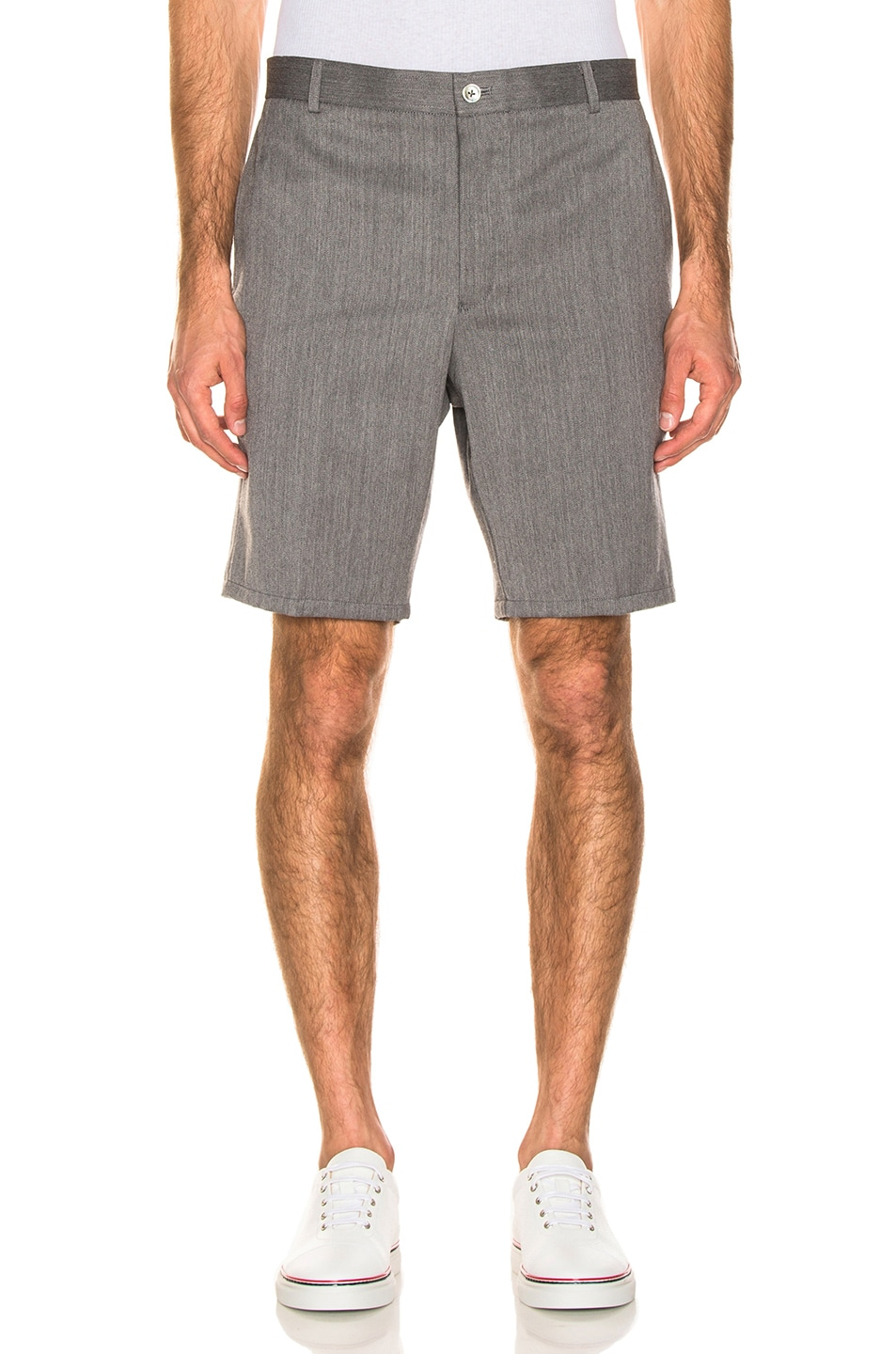 Image 1 of Thom Browne Shorts in Medium Grey