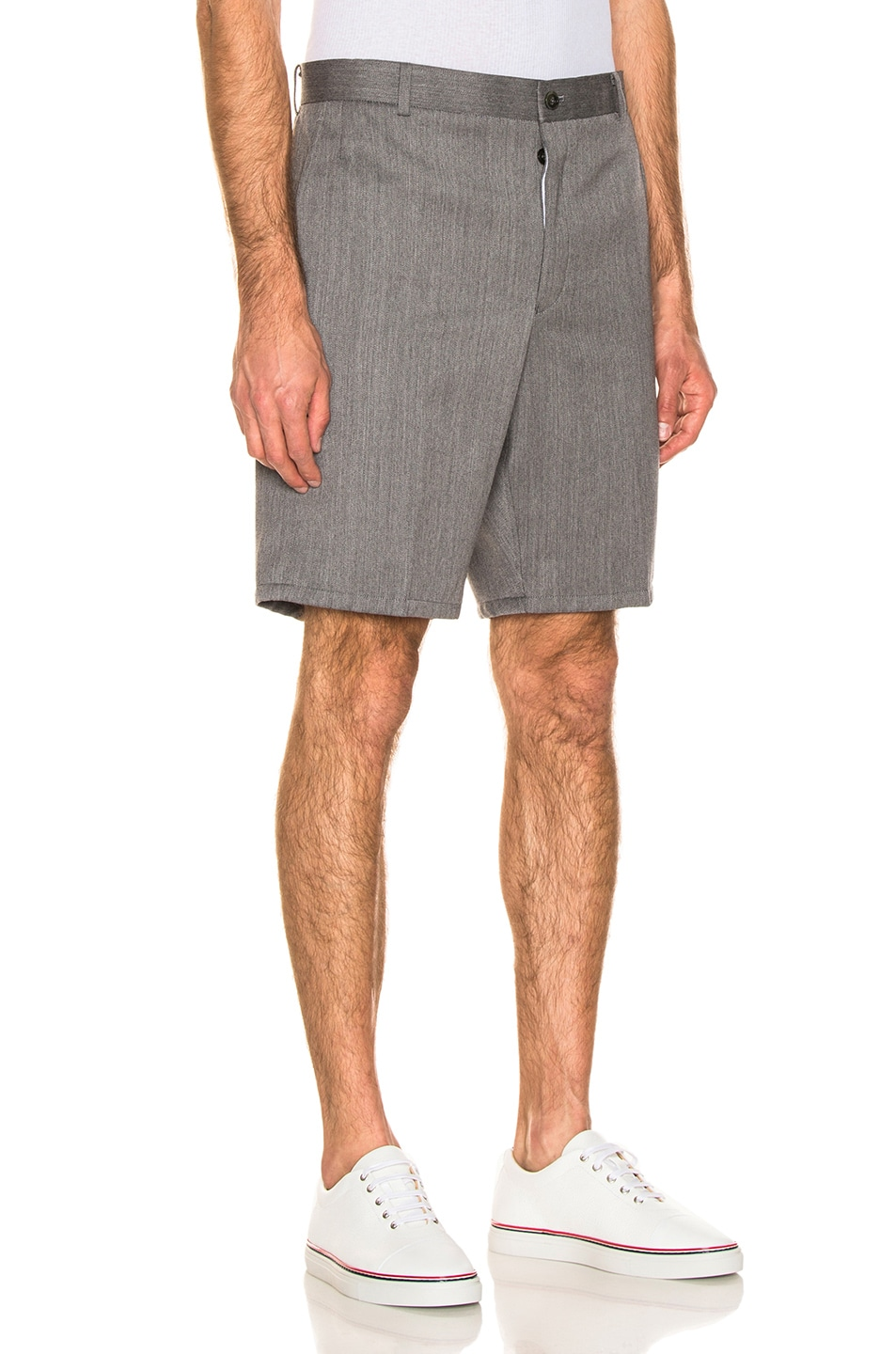 Image 2 of Thom Browne Shorts in Medium Grey