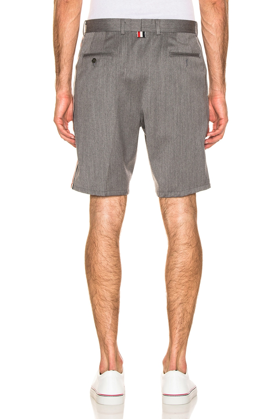 Image 3 of Thom Browne Shorts in Medium Grey