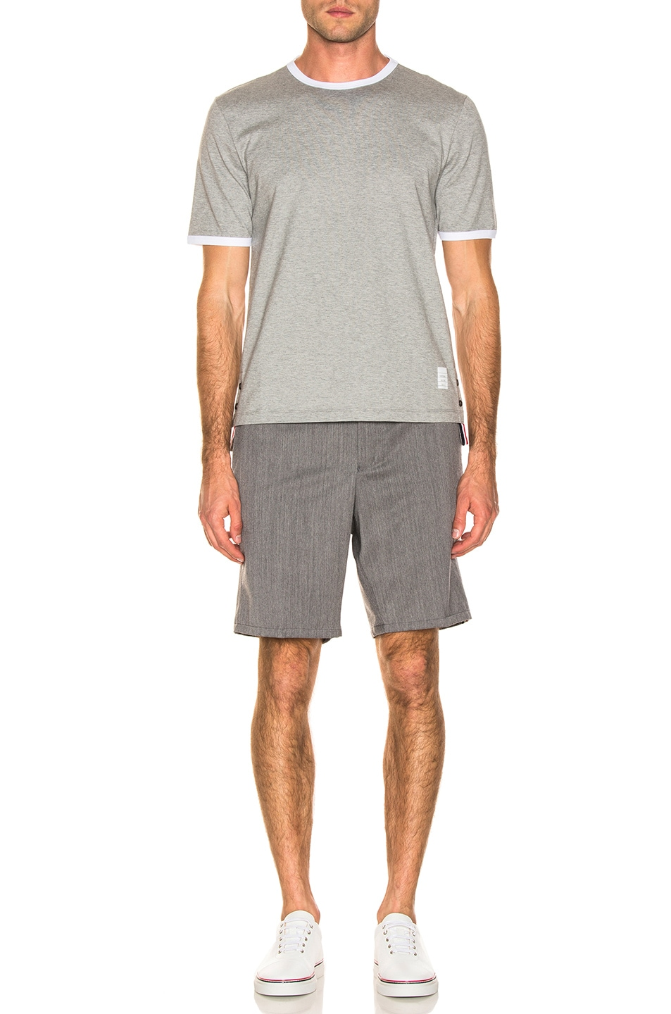 Image 4 of Thom Browne Shorts in Medium Grey