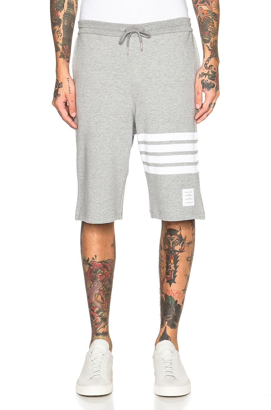 Image 1 of Thom Browne Classic Sweatshorts in Light Heather Grey