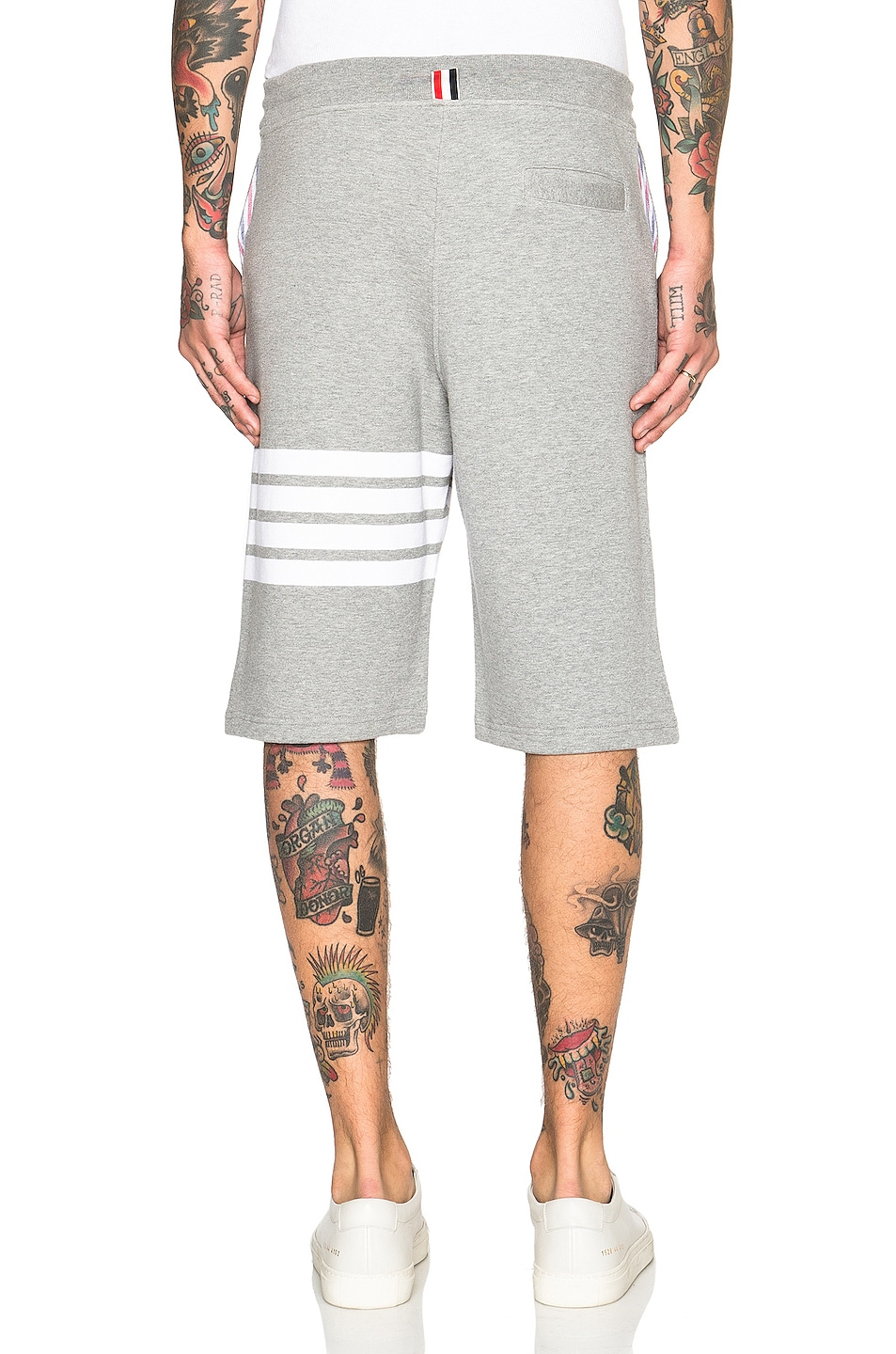 Image 4 of Thom Browne Classic Sweatshorts in Light Heather Grey