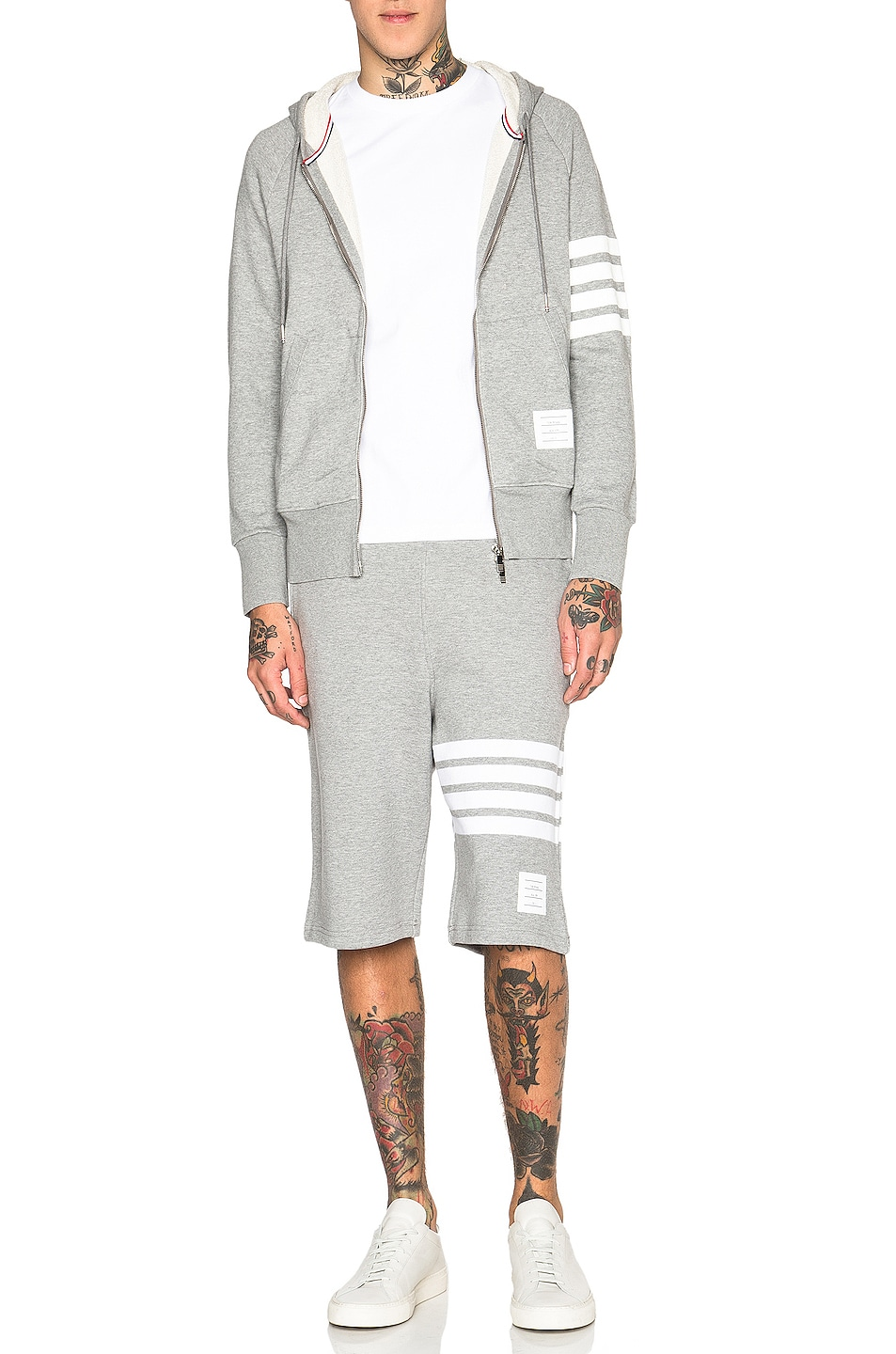 Image 5 of Thom Browne Classic Sweatshorts in Light Heather Grey