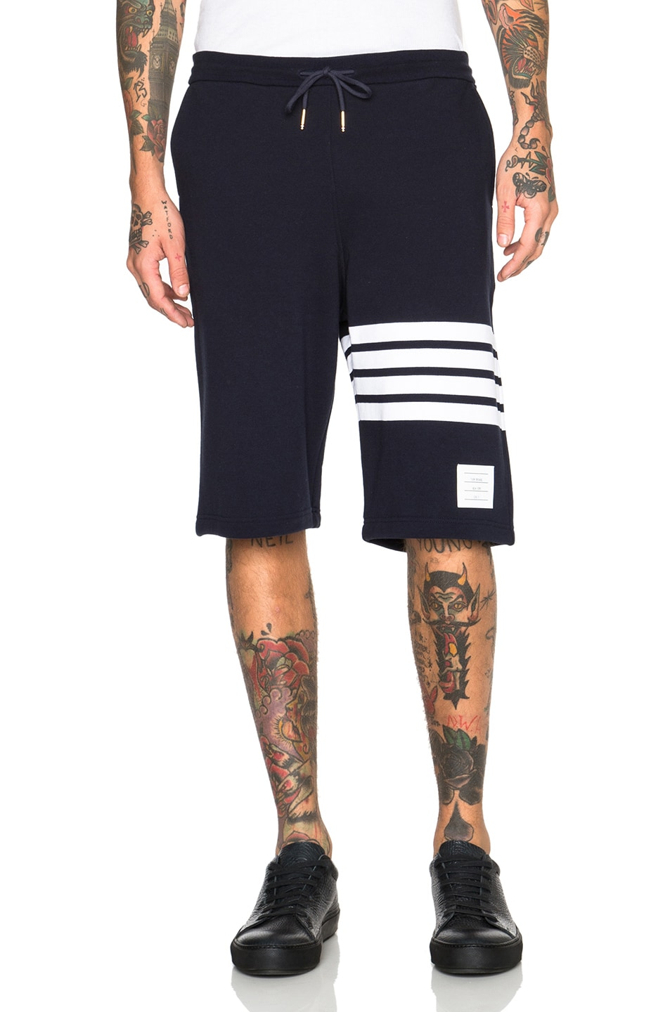Image 1 of Thom Browne Classic Sweatshorts in Navy