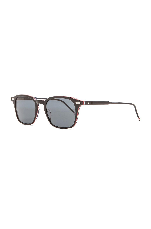 Image 2 of Thom Browne Square Frame Sunglasses in Black