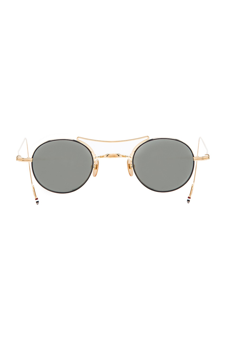 round lens sunglasses - Black Thom Browne