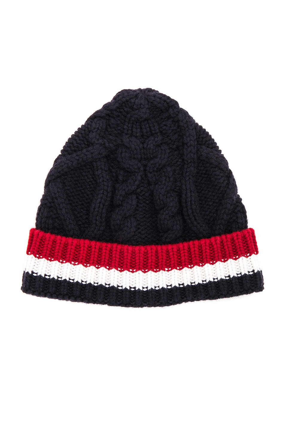 a7f1b792ca5 Image 1 of Thom Browne Aran Cable Hat in Navy