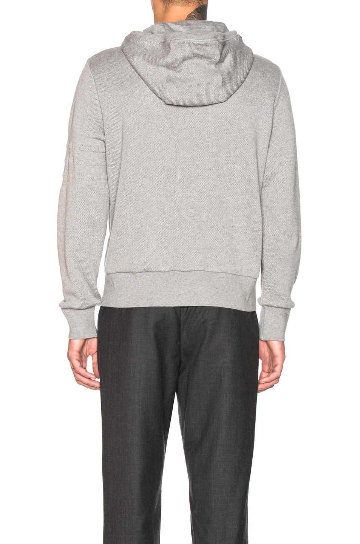 Image 4 of Thom Browne Honeycomb Pique Hoodie in Light Grey