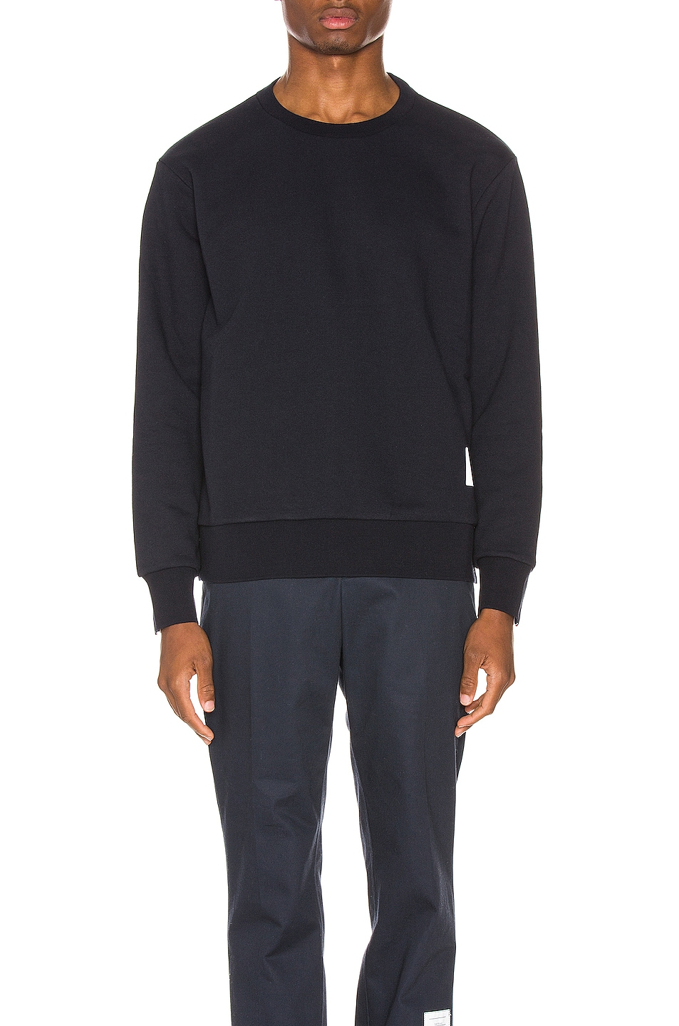 Image 2 of Thom Browne Striped Crewneck Pullover in Navy
