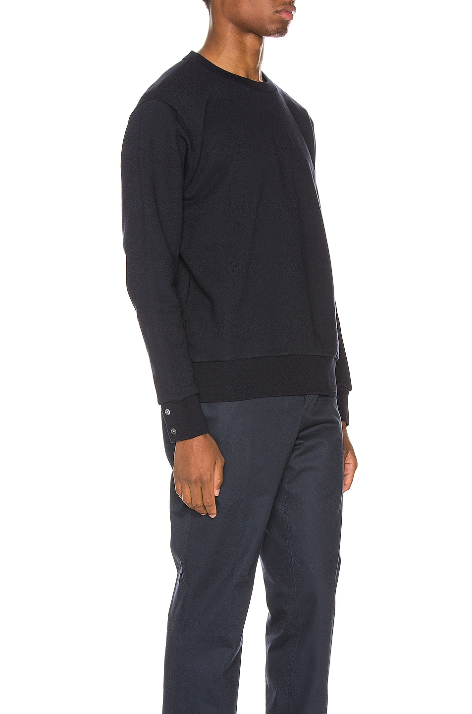 Image 3 of Thom Browne Striped Crewneck Pullover in Navy