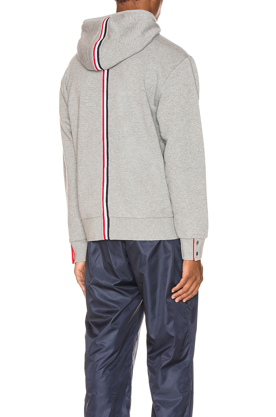 Image 1 of Thom Browne Zipper Hoodie in Light Grey