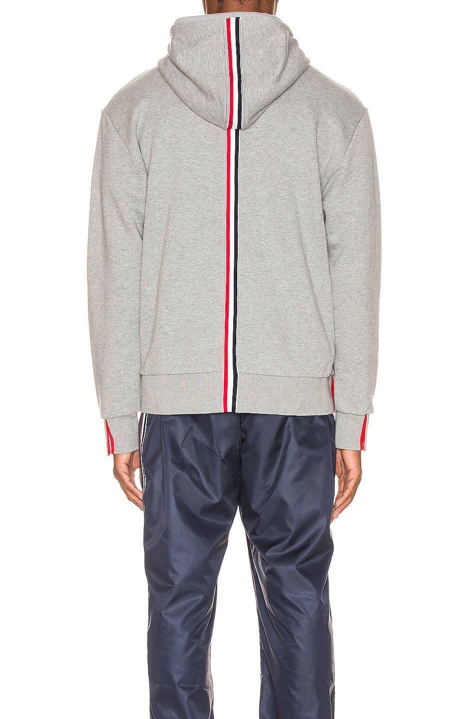 Image 6 of Thom Browne Zipper Hoodie in Light Grey