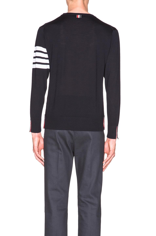 Image 4 of Thom Browne Classic Merino Crewneck Sweater in Navy