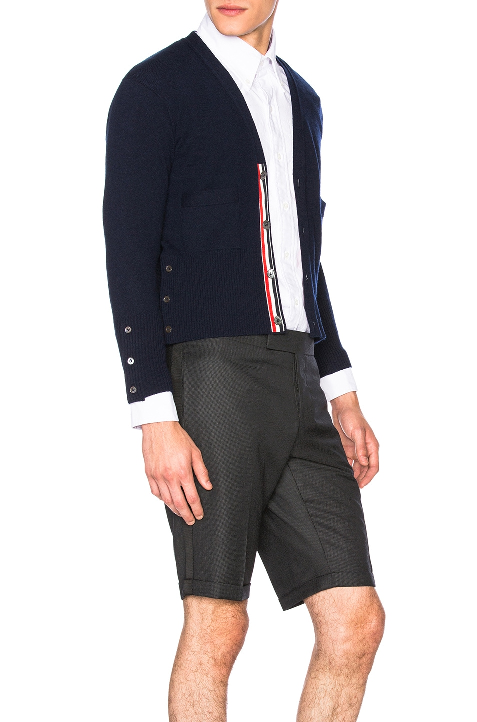 Image 4 of Thom Browne Classic Cashmere Cardigan in Navy