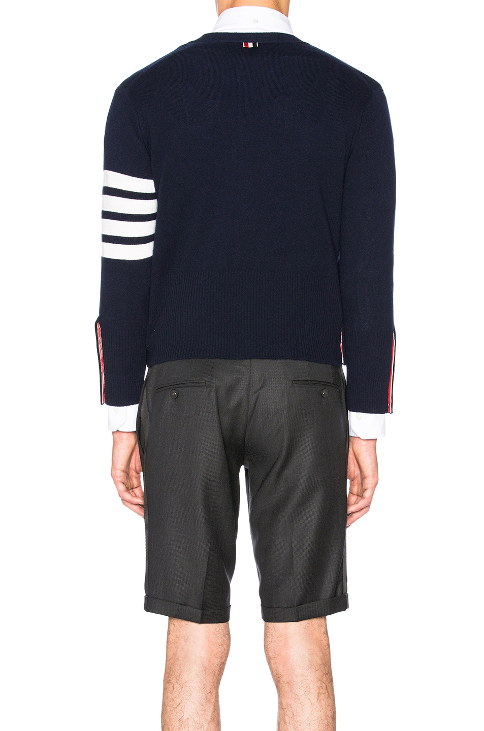 Image 5 of Thom Browne Classic Cashmere Cardigan in Navy