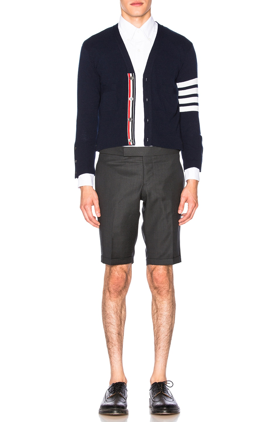 Image 6 of Thom Browne Classic Cashmere Cardigan in Navy