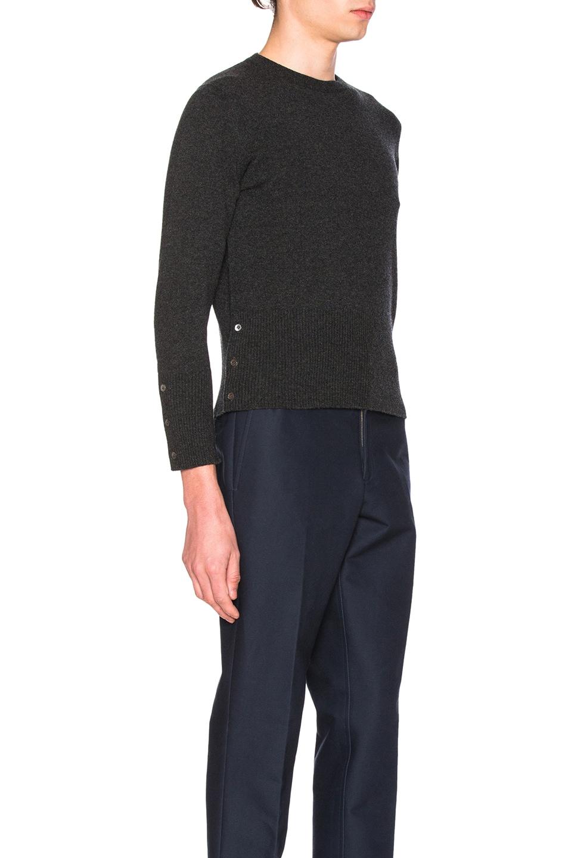 Image 3 of Thom Browne Classic Cashmere Crewneck Sweater in Dark Grey