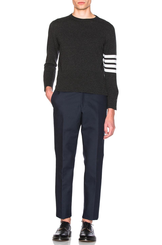 Image 5 of Thom Browne Classic Cashmere Crewneck Sweater in Dark Grey
