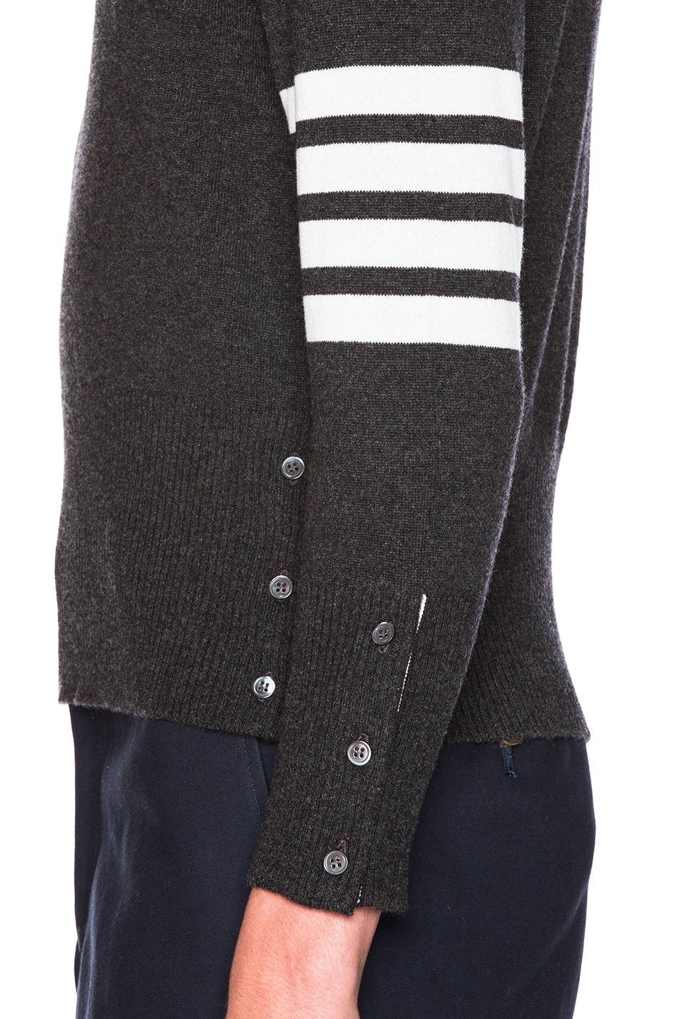 60d689362a Image 6 of Thom Browne Classic Cashmere Crewneck Sweater in Dark Grey