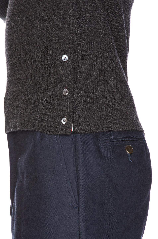 Image 7 of Thom Browne Classic Cashmere Crewneck Sweater in Dark Grey