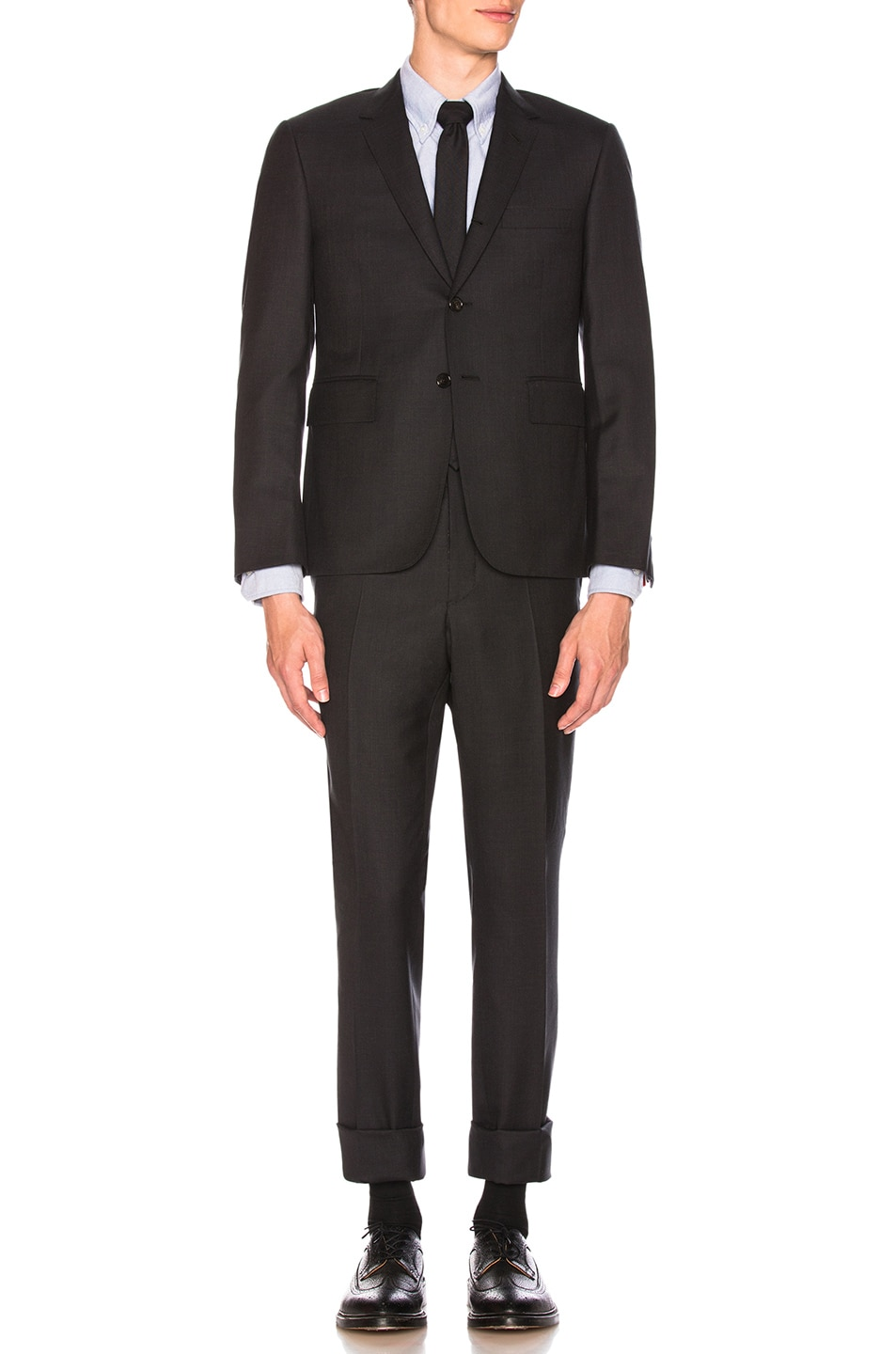 Image 2 of Thom Browne Classic Wool Suit in Charcoal