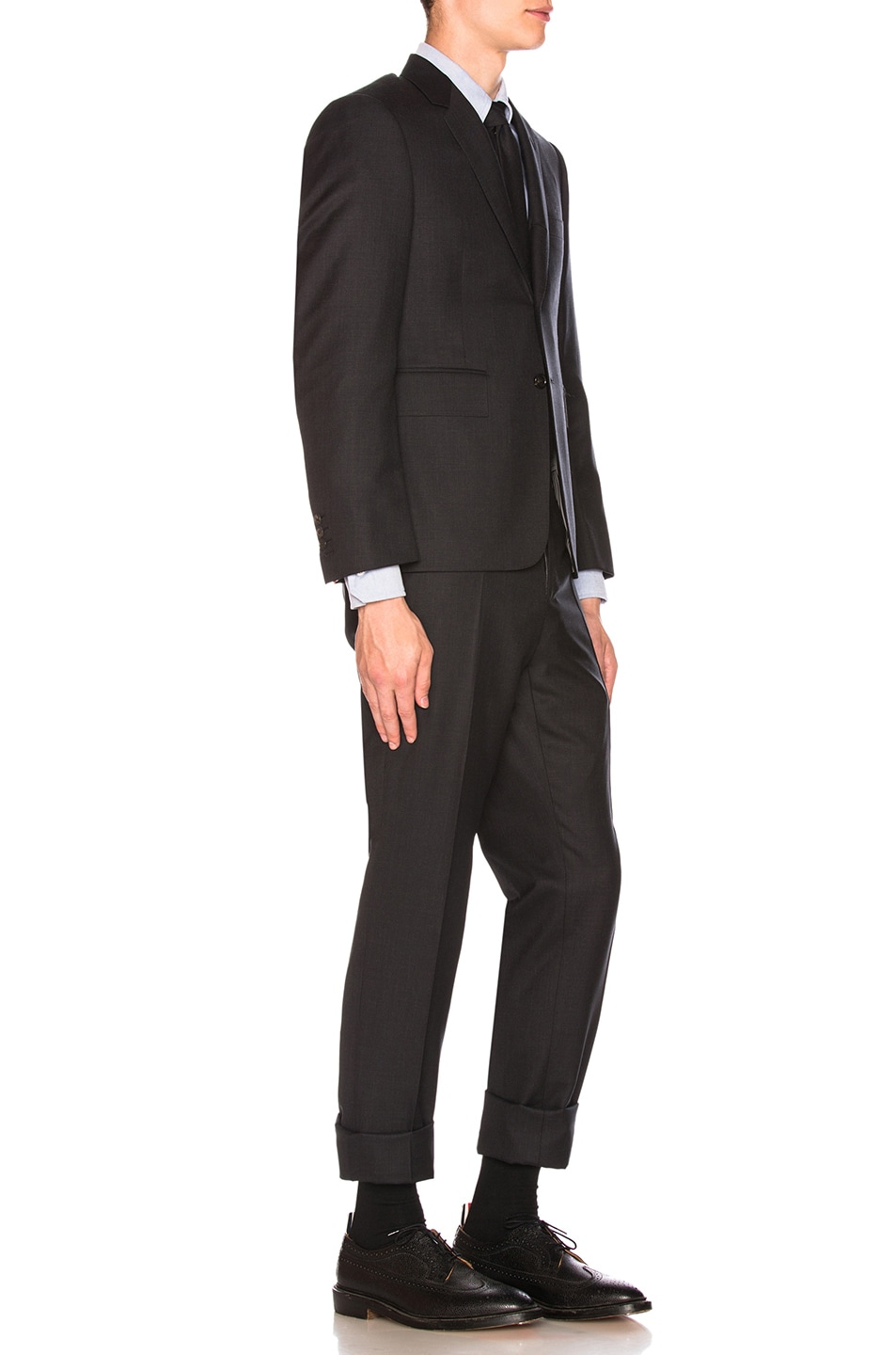 Image 3 of Thom Browne Classic Wool Suit in Charcoal