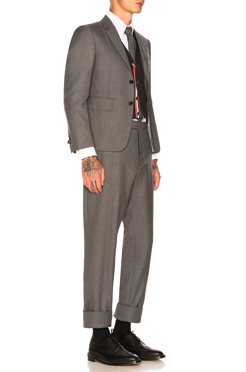 Image 3 of Thom Browne Classic Wool Suit in Medium Grey