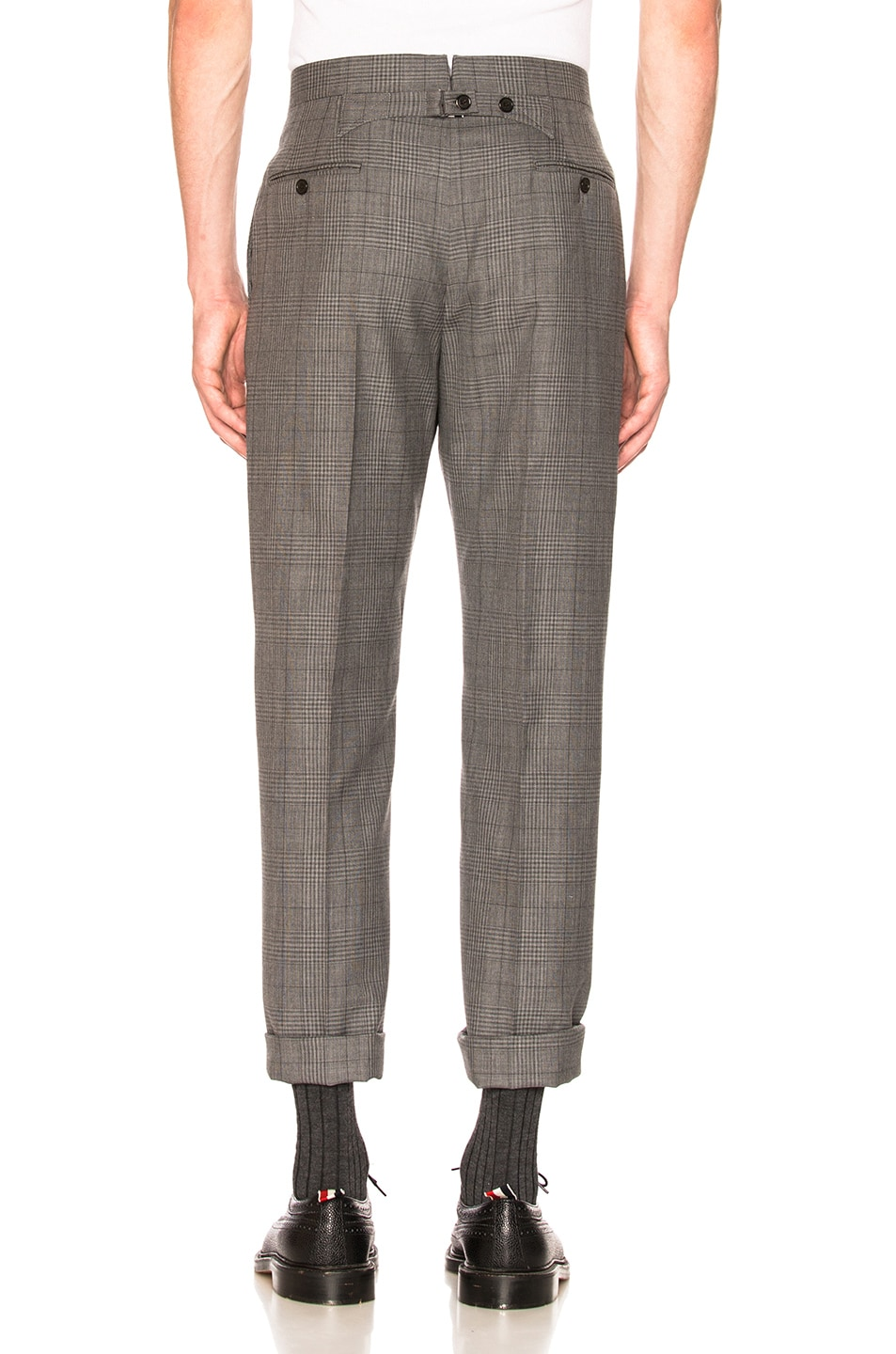 Image 7 of Thom Browne Classic Gingham Cool Wool Suit with Tie in Medium Grey