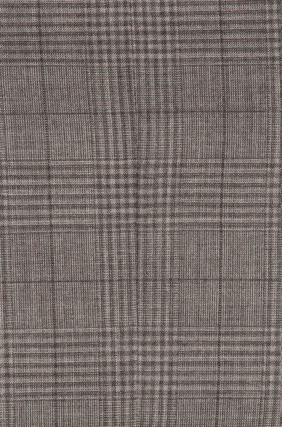 Image 8 of Thom Browne Classic Gingham Cool Wool Suit with Tie in Medium Grey