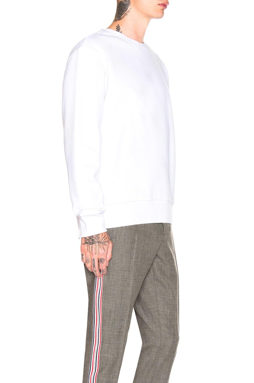 Image 3 of Thom Browne Back Stripe Crewneck Pullover in White